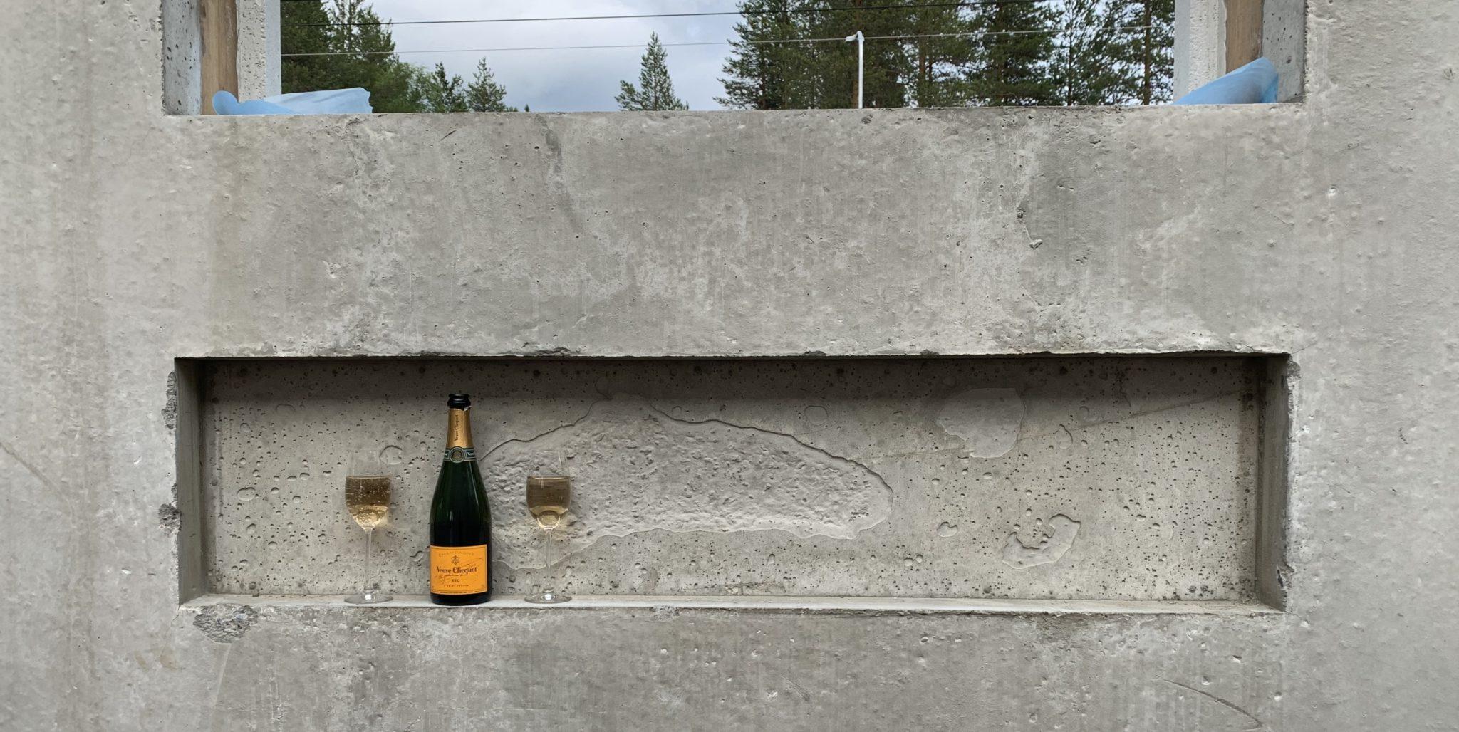 Veuve Champagne Shampoosyvennös kylpyhuone Kivitalon rakentaminen